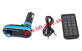 FM transmitter s bluetooth + 2x USB, 12/24V